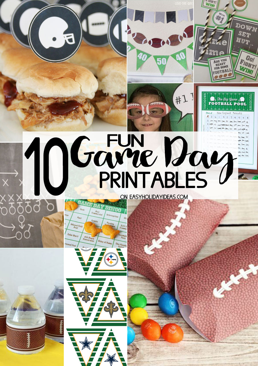 game day printables jazz up your football party