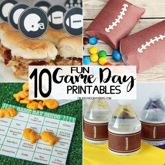 Fun Game Day Party Printables