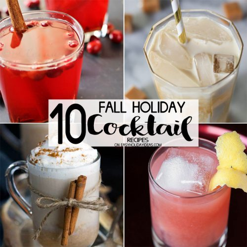 Fall Holiday Cocktail Recipes