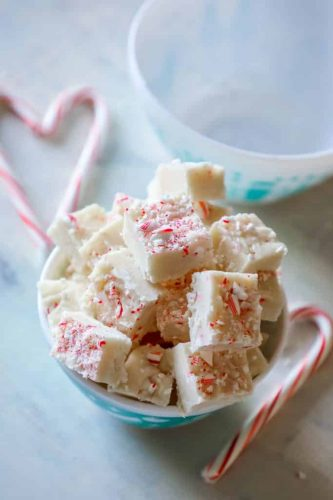 cake batter candy cane fudge