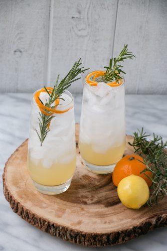 lemon rosemary tom collins