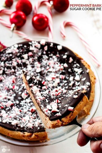 peppermint bake sugar cookie pie