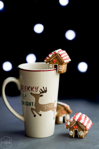 Mini Gingerbread House Mug Cookie