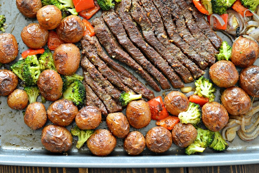 https://www.mylatinatable.com/sheet-pan-flank-steak-garlic-roasted-potatoes/?utm_content=bufferae120&utm_medium=social&utm_source=pinterest.com&utm_campaign=buffer