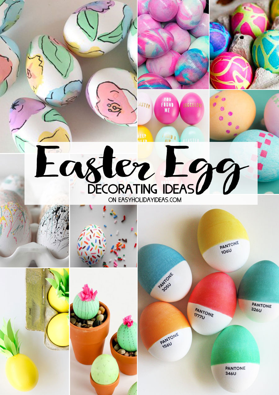 Easter Egg Decorating Ideas Easy Holiday Ideas