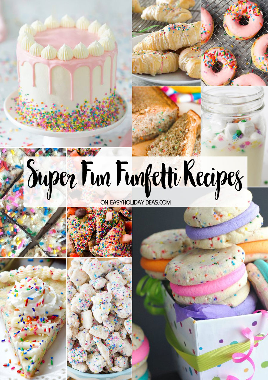 Super Fun Funfetti Recipes