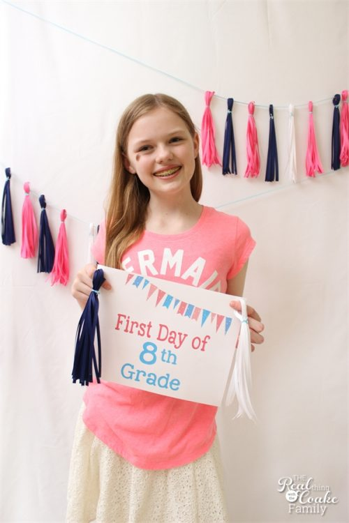 It is such a great marker of how much your kids grow and change in one year. These free printable first day of school signs are a great way to capture those first day of school pictures.