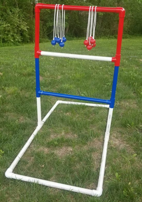 Have you heard of this game before?  It's also referred to as Ladder Golf and Hillbilly Horseshoes.  It doesn't matter what you call it.  All that you need to know is easy to make and fun to play.