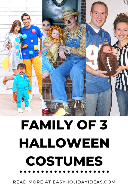 Coming up with Family of 3 Halloween Costumes may seem like a challenge, but three is the perfect number to pull off an epic group costume.