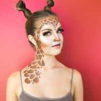 Giraffe Halloween Makeup Tutorial