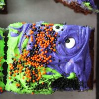 Scary-Cute Monster Mash Halloween Brownies
