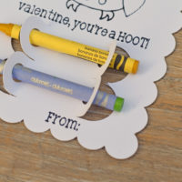 DIY Crayon Classroom Valentines with Cricut