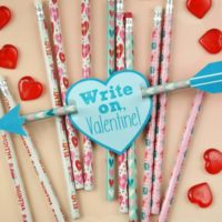Cupid's Arrow Pencil Valentines + Printable Tags