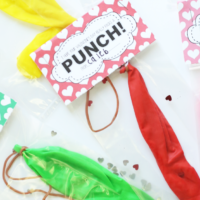 Printable Punch Balloon Valentines