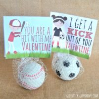 Sports Valentines Printables - Candy Free Valentine Ideas