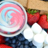 Red, White and Blue Fruit Dip – an easy Patriotic Dessert