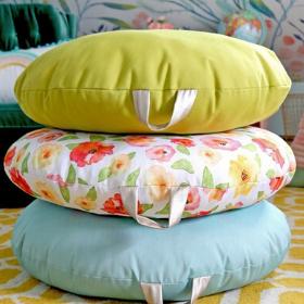 Comfy Floor Pillow Tutorials