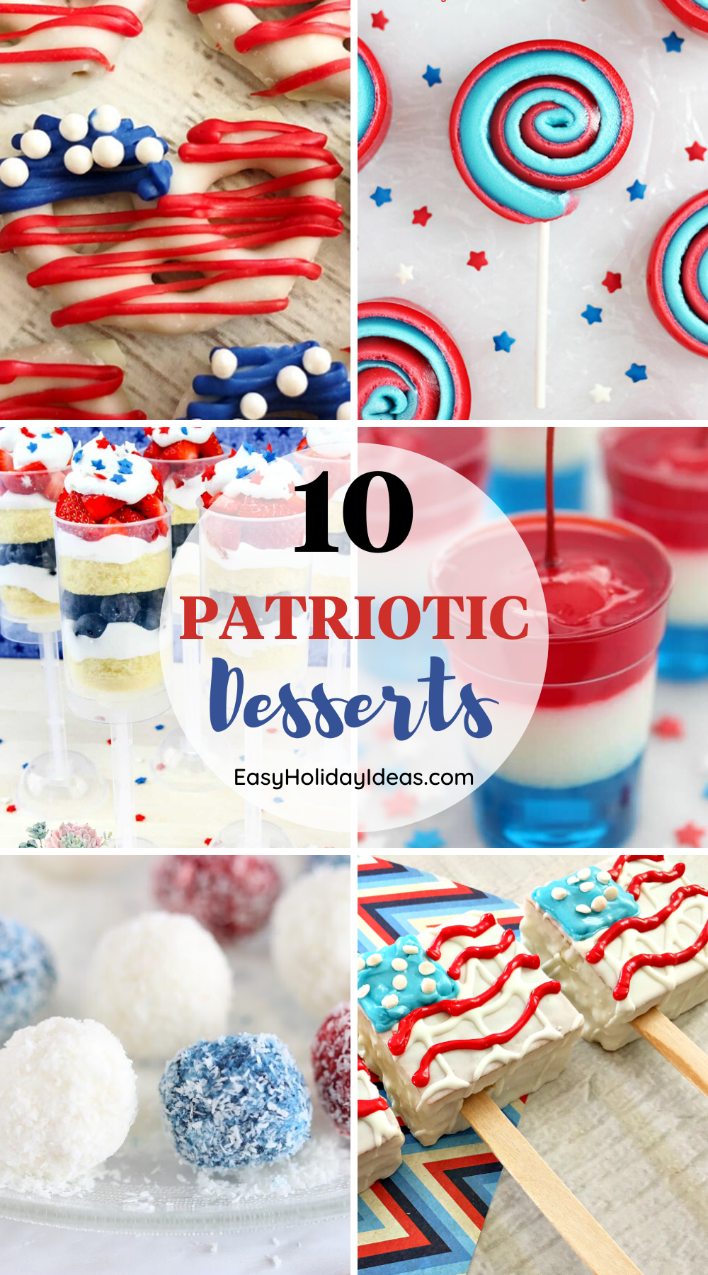 The Fourth of July is the biggest summer holiday in America and it's a perfect time to make Red White and Blue Desserts.
