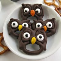 Owl Pretzel Treats