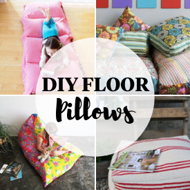 Comfy Floor Pillow Tutorials