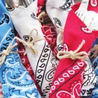 Use Red White and Blue Bandanas