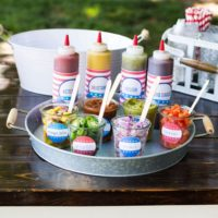 Hot Dog Toppings Bar for the 4th of July