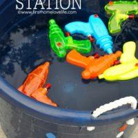 Summer Fun: Squirt Gun Station